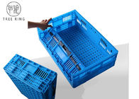 Recycled Large Plastic Folding Storage Baskets 30l 600 * 400 * 180 Mm PE Or PP