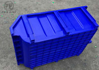 Blue / Red Stacking Plastic Bin Boxes  For Secure Storage Of Parts 600 * 400 * 230mm