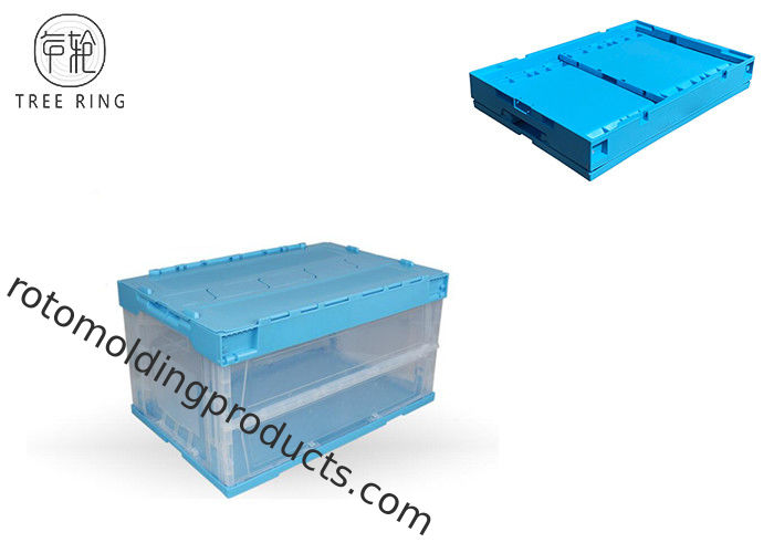Transparent Plastic Foldable Container With Handles Maximizing Space 600 - 320