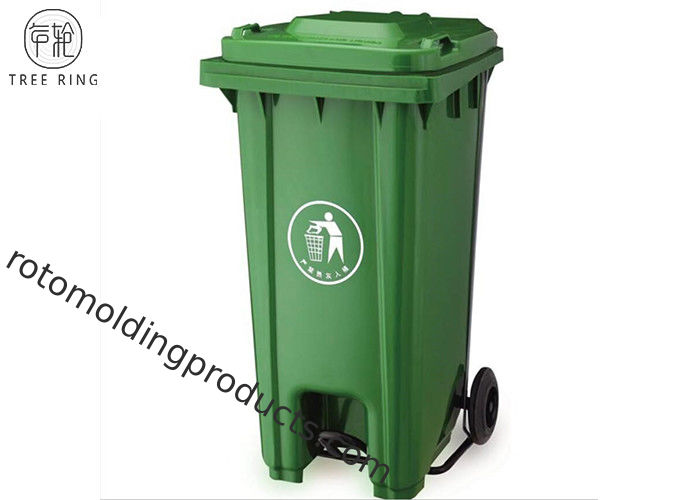 240 Liter Rectangular Wheelie Bin Containers With Foot Pedal For Garbage Removal