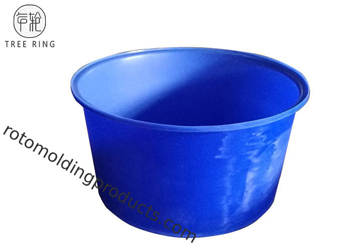 1000l Cylindrical Access Plastic Cattle Drinking Troughs , Poly Round Water Tank With Lids