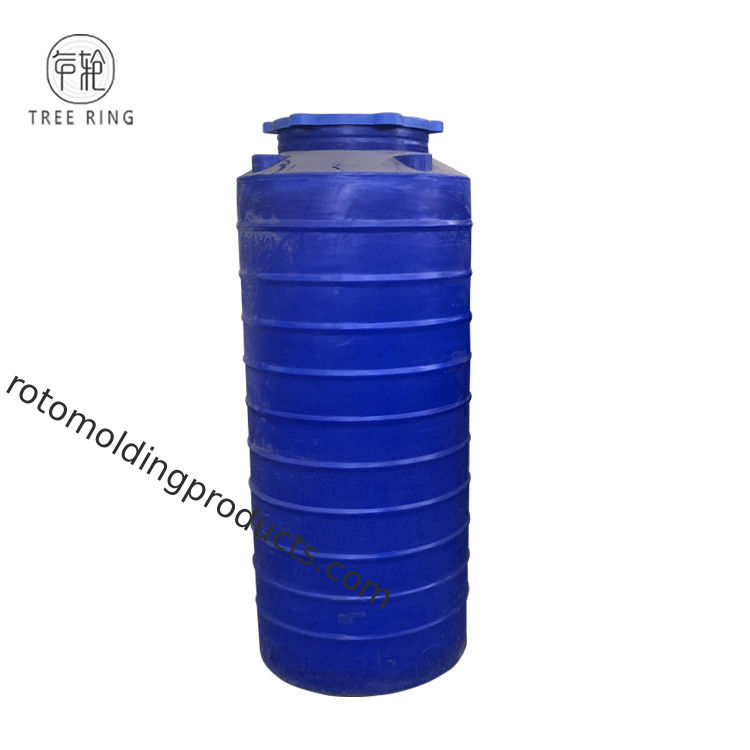 Blue Color Round 250 Gallon Plastic Water Storage Tanks For Liquid Feed Storage